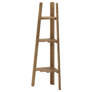 IKEA ASKHOLMEN corner ladder shelf, wooden plant stand