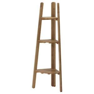 IKEA ASKHOLMEN corner ladder shelf, wooden plant stand