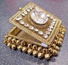 GOLD & GEM Trinket Jewellery Box - Beautiful Design, Secure Close