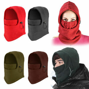 Winter Thermal Fleece Scarf Ski Face Cover Neck Warmer Snood Hood Balaclava Hat