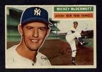 1956 Topps #340 Mickey McDermott EX+ Yankees A3332