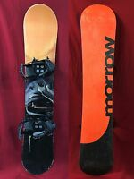 Morrow Siphon 159 cm snowboard with large K2 bindings