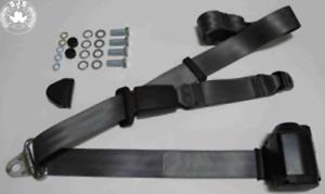 Dreipunkt Automatic Seat Belt (Rear) for Alfa Romeo Classic Car, Grey