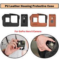 1PC PU Leder Gehäuse Schutzhülle Tragetasche mit Lanyard Für GoPro Hero 8 Kamera