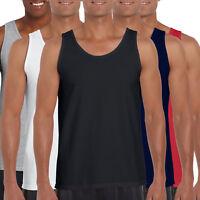 Fruit Of The Loom Mens Athletic Vest Plain Tank Top Cotton Fit Gym Sports SALE
