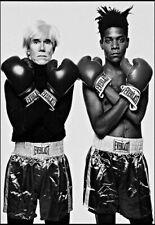Jean-Michel Basquiat Andy Warhol Boxer Artist Poster Print