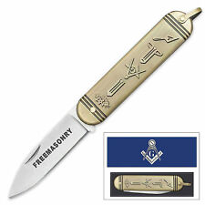 Free Mason Folding Pocket Knife - Masonic Gift - Fast Shipping! NEW in Gift Box