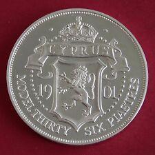 Cipro 1901 Edoardo VII ARGENTO PROOF Pattern Modello 36 PIASTRES