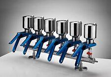 Azzota 6-Branch Vacuum Filtration Manifolds, 316 Grade Stainless Steel