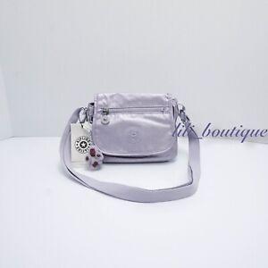 NWT Kipling AC8281 Sabian Crossbody Mini Shoulder Bag Frosted Lilac Metallic $49