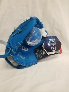 "Franklin My First Fielding Glove TEEBALL Right Handed 3+ W/ Soft Ball BLUE 8.5 """