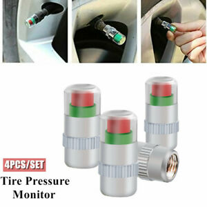4PCS Car Auto Tire Pressure Test Monitor Valve Stem Caps Sensor Indicator Alert