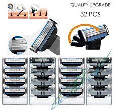 32 PCS Generic Replacement Blades Cartridges for Gillette Mach 3 Shaving Razor