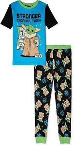 NWT Baby Yoda Pajamas Mandalorian Star Wars Girl Boy T Shirt Pant S M L 4 6 8 10