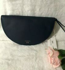Halston Half Moon Wristlet Wallet HW0012 Navy New with Tags