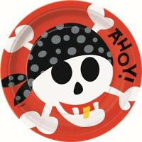 """PIRATE FUN 8 x 9"""" PLATES TABLE DECORATION PARTY SUPPLIES"""