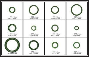 Klima-Anlage-Dichtungsringe HNBR 120 tlg O-Ringe Sortiment Gummiringe KFZ