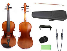 4/4 Violin 5 string electric Acoustic Nice Maple Spruce Wood Case bow #1568