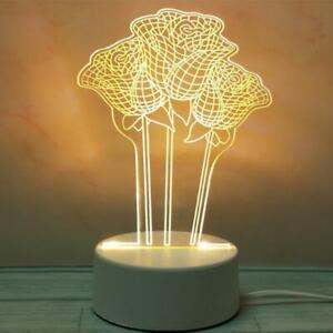 3D LED Night Light USB Small Table Lamp Novel Illusion Lamp Girl Birthday Gift