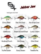 13 Fishing Jabber Jaw 60 Hybrid Squarebill Crankbait - Choose Color
