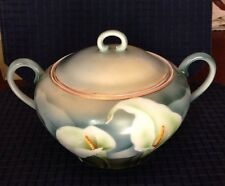CT Altwasser Numbered Round Lidded With Handles Calla Lillies Serving Dish 9 1/2