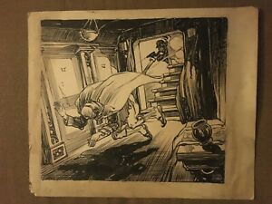 ORIGINAL 1924 Austin Jewell Pen & Ink THE MAN FROM MOROCCO Serial Illustration 4