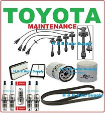 98-99 TOYOTA COROLLA TUNE UP KITS: SPARK PLUGS, WIRE SET, BELT; AIR & OIL FILTER