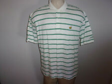 Men's 2003 Masters Collection sz XL White with Green Stripes SS Polo Golf Shirt