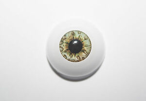Reborn Secrist OCEAN GREEN  Polymer Eyes x 1 pair HALF Round