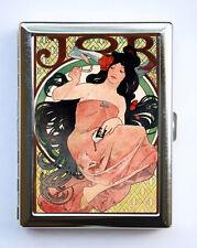 JOB Art Nouveau Goddess Cigarette Case id case Wallet Business Card Holder