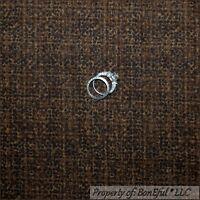 BonEful Fabric FQ Cotton Quilt Dark Brown Tan Tweed Dot Tone Tonal Small Calico
