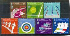 ISOLA di Man-OLIMPICA Set di 7 2012 Gomma integra, non linguellato