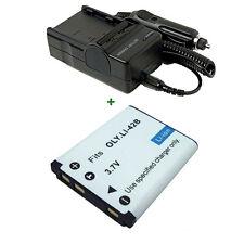 Battery for OLYMPUS LI-42B Stylus SW850 790 770 710 730 740 550 770SW + Charger