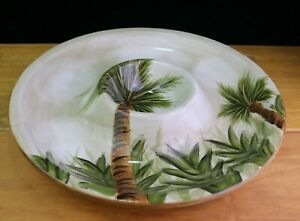 Kona Serving Chip & Dip Tray Tabletops Unlimited Dinnerware Tropical Palm Trees