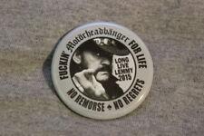Motorheadbanger LONG LIVE LEMMY 2015 Kilmister MOTORHEAD pin/button plasmatics