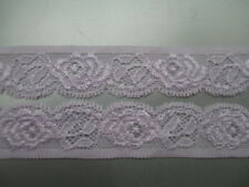 Beautiful! 5 yards of Pink elastic lace embroidered peony flower pattern