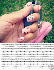 Barbed Wire Nail Art Waterslide Decals - Salon Quality!