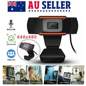 Webcam Camera HD Auto Focusing USB 2.0 W/ Microphone For PC Laptop Desktop