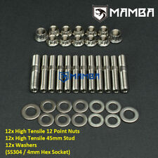 Ss304 Mhi Evo 19 4g63t 1g 2g Eclipse Dsm Exhaust Manifold Amp Turbo Full Stud Kit