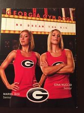 Georgia Bulldogs 2012 NCAA Women's Gymnastics pocket schedule
