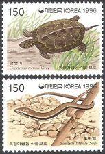 KOREA 1996 Pond Tartaruga/Lucertola Scinco// Protezione della natura/animali selvatici 2 V Set (n41940)