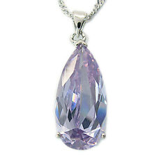 Xmas Jewelry 18K White Gold Plated Rhinestone Crystal Pendant Necklace Gift