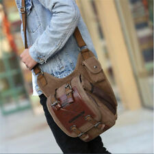 Men  Crossbody Shoulder Bags Retro Canvas Bag Travel Messenger UK
