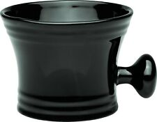 Erbe Solingen Shaving Mug With Handle Ceramic Black For Shaving Soap Germany
