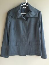 MAGASCHONI Sz 12 Gray Wool Cashmere Blend Jacket