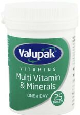 6 X Valupak Multi Vitamins And Minerals One A Day 25 Tablets