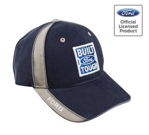 Ford Truck F150 F250 F350 Built Ford Tough Blue & Tan Baseball Hat Cap