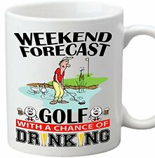 Weekend Forecast - Golf With A Chance Of Drinking Coffee Tea Mug Club Bag Putter