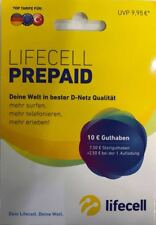 lifecell Prepaid Sim Karte D- Netz inkl. 7,50+2,50€ Euro Guthaben, WoW