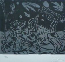 """PABLO PICASSO  """"Bacchanal with Goat and Owl"""" HAND NUMBERED  signed LITHOGRAPH"""